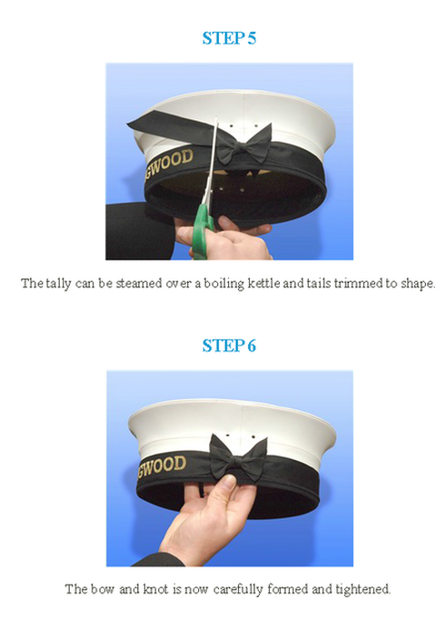 how to tie a cap tally